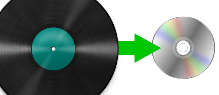 vinyl lp to disc