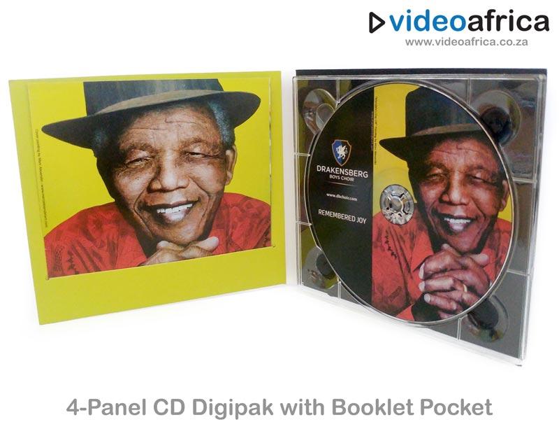 4-Panel CD Digipak with Booklet Pocket
