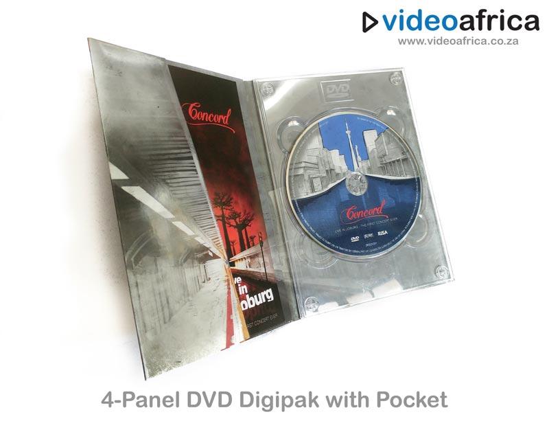 4-Panel DVD Digipak with Booklet Pocket