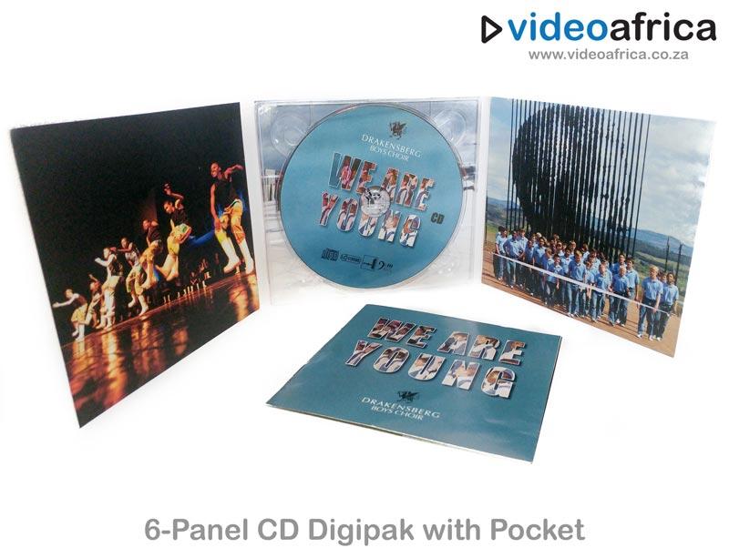6-Panel CD Digipak with Booklet Pocket