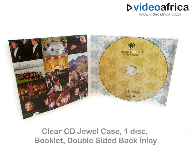 Clear CD Jewel Case with Booklet and Double Sided Rear Inlay