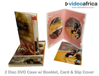 2-Disc DVD Case With Booklet, Card & Slip Cover