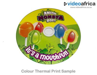 high gloss colour thermal disc print example